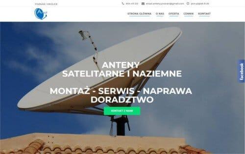 Strona internetowa Ansat - wizytówka