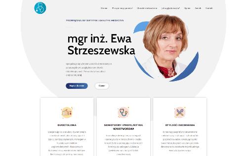 Strona internetowa dietetyk ewy strzeszewskiej - wizytówka