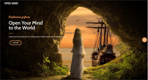 Strona internetowa Open Mind - firmowa