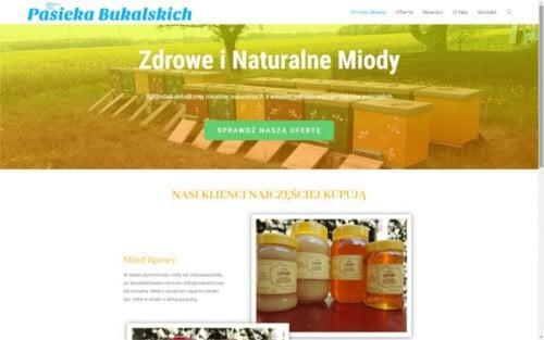 Strona internetowa Pasieka Bukalskich - firmowa